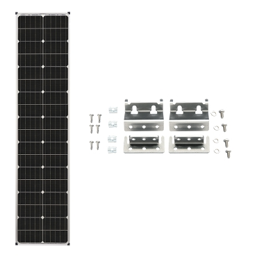 Zamp Solar Deluxe L 90W Expansion Long Slim Solar Kit | ZS KIT1010