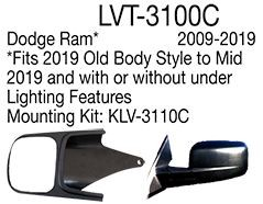 Longview Custom Towing Mirrors - Slip On - Driver and Passenger Side LVT-3100C