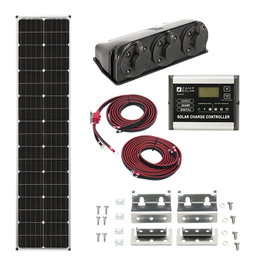 Zamp Solar Deluxe L 90W Expandable Long Slim Solar Kit | ZS KIT1007