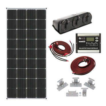Zamp Solar 170W Expandable Dual Battery Bank Solar Kit | ZS KIT2015
