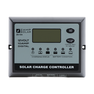 Zamp Solar 10 Amp Digital PWM Solar Charge Controller | ZS-10AW