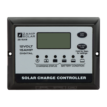 Zamp Solar 15 Amp Digital PWM Solar Charge Controller | ZS-15AW