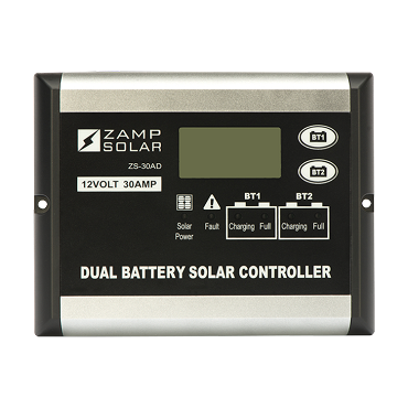 Zamp Solar 30A Indoor Dual Battery Bank Solar Controller | ZS-30AD
